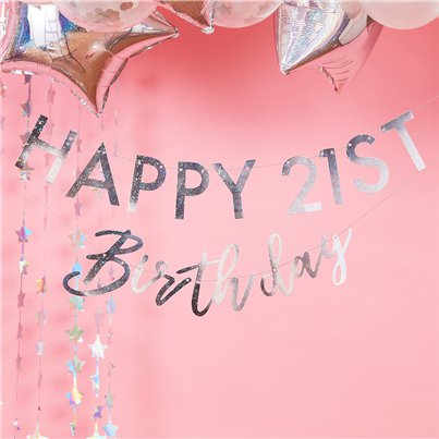 Iridescent Personalisable Birthday Banner - 1.75m