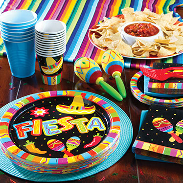 Mexican Fiesta Tableware & Mexican Party Supplies | Delights Direct