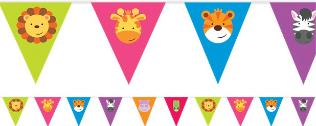 Animal Friends Pennant Banner