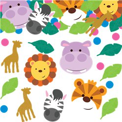 Animal Friends Paper/Foil Confetti