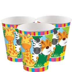 Animal Friends Cups - 266 ml Paper Party Cups