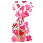 Heart Cello Party Bags - 28cm