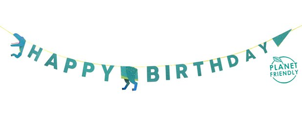 Little Party Dino Birthday Garland - 3.5m