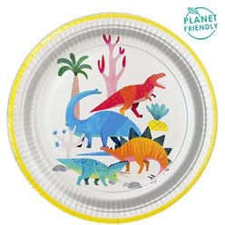 Little Party Dino Party Plate - 23cm