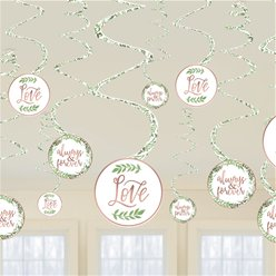 Love & Leaves Hanging Decorations - Hanging Swirls