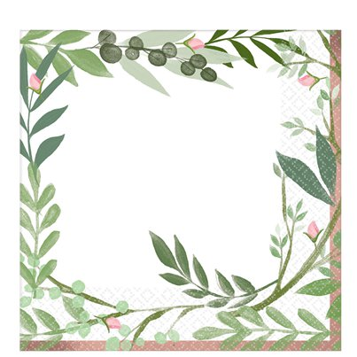 Love & Leaves Paper Napkins - 33cm