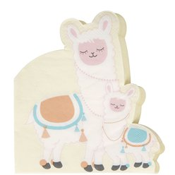 Llama Love Shaped Paper Napkins