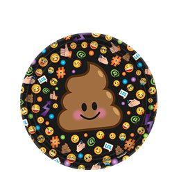 Smiley Dessert Plates - 18cm Paper Party Plates