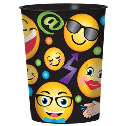 Smiley Plastic Favour Cup - 455ml