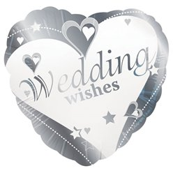 "Loving Hearts Wedding Wishes Balloon - 18"" Foil"