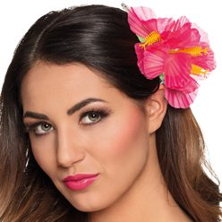 Pink Hibiscus Flower Hair Accessory