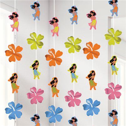 Hula Girl Hanging Strings - 2.1m Hawaiian Decoration