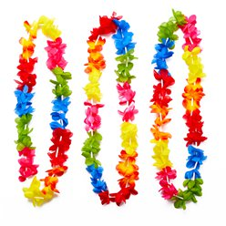 Multicoloured Hawaiian Leis - 25 Pack