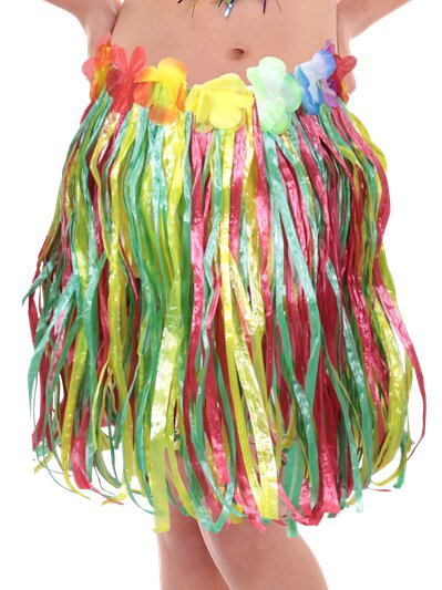 Child's Hula Grass Skirt - Multi