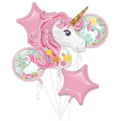 Magical Unicorn Balloon Bouquet - Assorted Foil