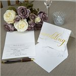 Scripted Marble Wedding Invites - Party Invitation Cards