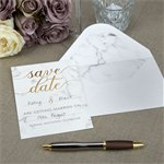 Scripted Marble Wedding 'Save The Date' Cards