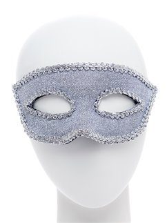 Silver Masquerade Mask with Ribbon