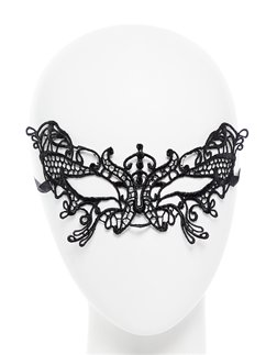 Black Lace Butterfly Masquerade Mask