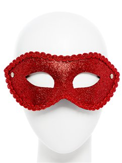 Red Glitter Masquerade Mask