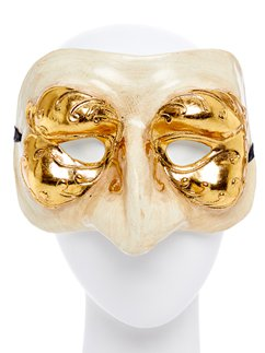 White & Gold Masquerade Mask
