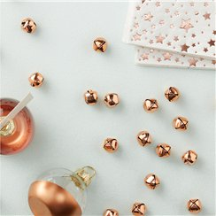 Rose Gold Metallic Star Mini Bell Confetti - 1cm