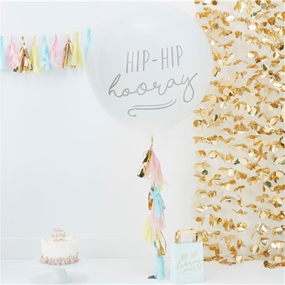 Pick & Mix Pastel Giant 'Hip Hip Hooray' Balloon Kit