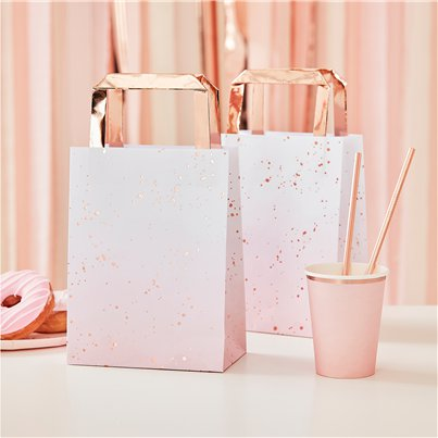 Rose Gold Ombre Foiled Party Bags