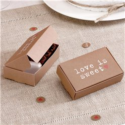 Love is Sweet Wedding Cake Boxes