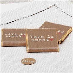 'Love is Sweet' Wedding Chocolate Neapolitans - 20pk