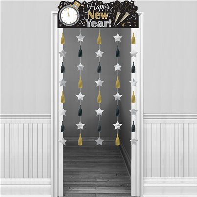 Metallic New Year Door Curtain - 1.95m