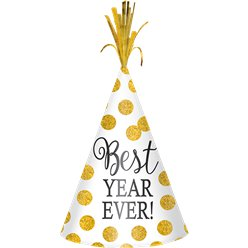 "White & Gold ""Best Year Ever"" Hat"