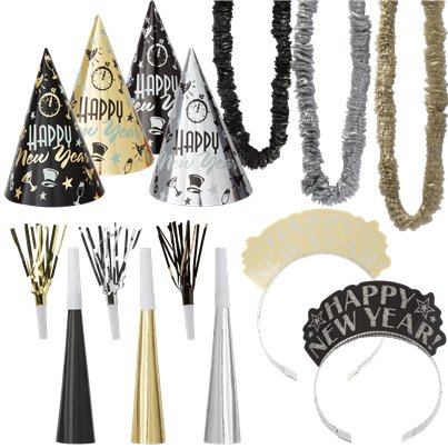 Metallic New Year Party Kit for 10 People