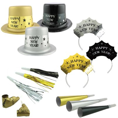 Metallic New Year Party Kit for 25 People