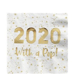 2020 Luxe Gold Cocktail Napkin - 25cm