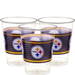 NFL Pittsburgh Steelers Cups - 473ml Plastic Party Cups
