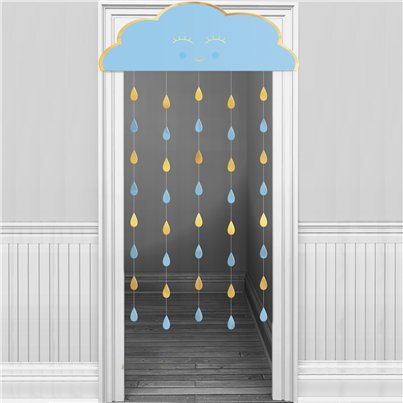 Baby Boy Blue Cloud Door Curtain