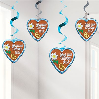 Oktoberfest Hanging Decorations - 80cm Swirls