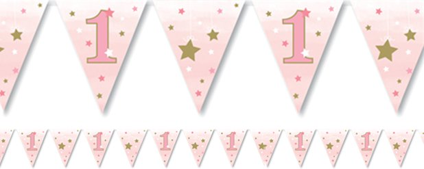 One Little Star Girl Paper Bunting - 4m