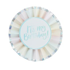 Iridescent Pastel 'It's My Birthday' Badge