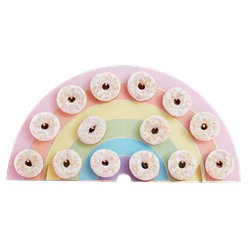 Iridescent Rainbow Donut Wall