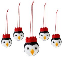 Penguin Parade Felt Tree Decorations