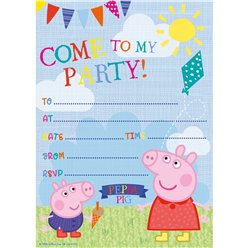 Peppa Pig Invites - Party Invitation Cards