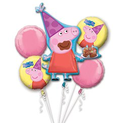 Peppa Pig Bouquet - Assorted Balloons