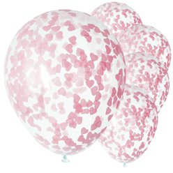 "Pink Hearts Baby Shower Balloons - 16"" Latex"