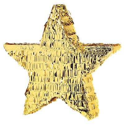 Gold Foil Star Piñata - 45cm tall