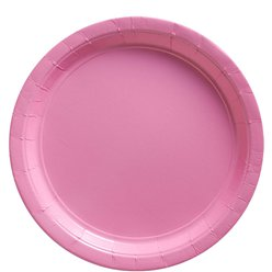 Baby Pink Plates - 23cm Paper