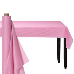 Baby Pink Plastic Banqueting Roll - 30m