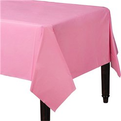 Baby Pink Plastic Tablecover - 1.4m x 2.8m