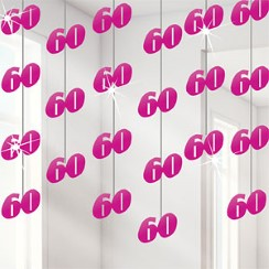 60th Pink String Decoration